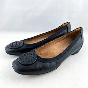 Clarks Artisan Black Leather Workwear Flats Shoes